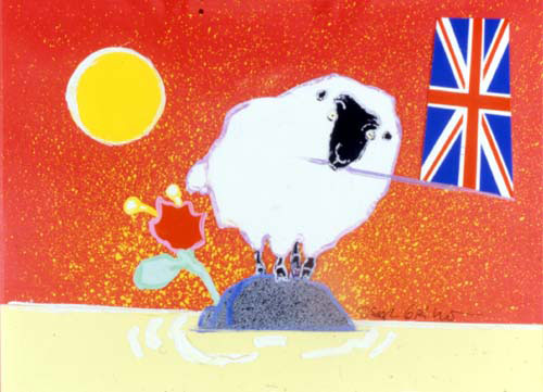 Oscar Grillo(Sheep/flag)